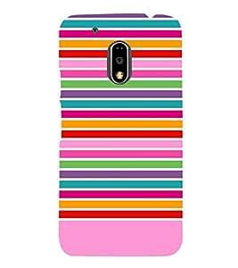 Multi Art Rainbow Colors 3D Hard Polycarbonate Designer Back Case Cover for Motorola Moto G4 Plus :: Moto G4+ :: Moto G4
