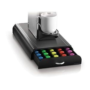 mind reader anchor coffee pod storage drawer for 50 nespresso capsules black. Black Bedroom Furniture Sets. Home Design Ideas