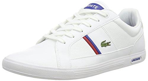 LacosteEUROPA TCL - Scarpe da tennis basse uomo, Bianco (Bianco (WHT/WHT 21G)), 40.5