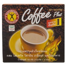 Nature Gift Coffee Plus With Fiber Ginseng Extract Vitamin & Mineral 135G. (13.5G.X10 Sachets)