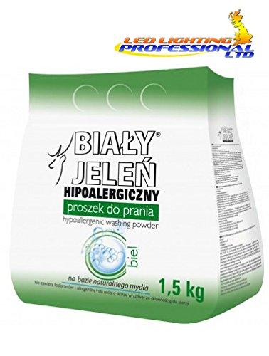 BIALY JELEN - HYPOALLERGENIC WASHING POWDER - WHITE - 1.5kg