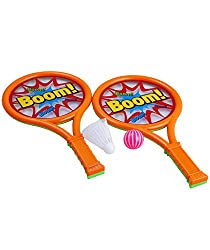 NOVICZ 2 Set of Kids Badminton Tennis Racket and Ball & Shuttle Cock Badminton Racket for children - Kids Toys