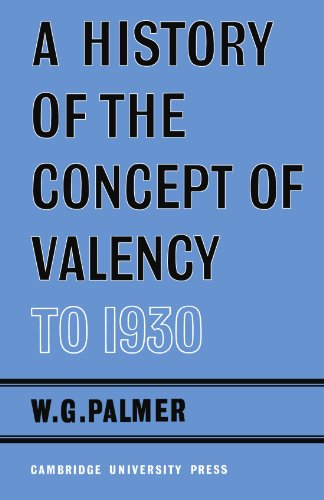 A History of the Concept of Valency to 1930 Paperback