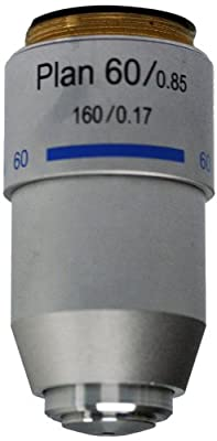 National Optical 760-160P 60XR DIN Plan Achromat Objective Lens, N.A. 0.85, For 160 Microscopes from National Optical & Scientific Instruments Inc