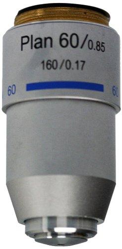 National Optical 760-160P 60Xr Din Plan Achromat Objective Lens, N.A. 0.85, For 160 Microscopes