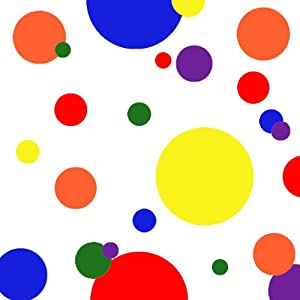 amazoncom primary dot decals kids wall decals bright
