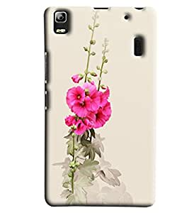 Blue Throat White And Pink Flower Printed Designer Back Cover/Case For Lenovo A7000