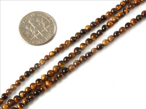 Sweet & Happy Girl'S Store 3Mm Round Gemstone Tiger Eye Beads Strand 15