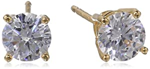 Sterling Silver Round Simulated Diamond Stud Earrings (1.62 cttw) by PAJ, Inc