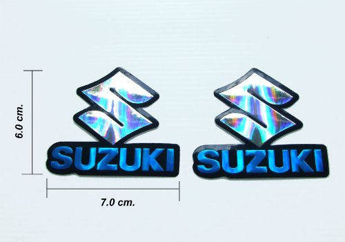 2x Foil Sticker Decal Suzuki Logo Motor Sports Racing Blue By Motocross
