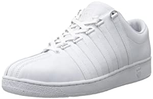 K-Swiss Men's Classic LX Lace-Up Sneaker,White,12 M US