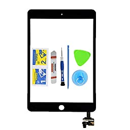 Monkey iPad Mini 3 Touch Screen Digitizer Complete Assembly with IC Chip Replacement Display Black(Adhesive + Tool Kit Included)