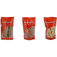 Food World Combo - Badam 100g + W240 Cashew 100g + Green Kismis 100g, Promo Pack (MRP - 289, Buy @ Rs. 240)