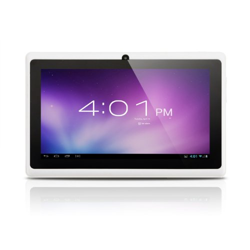 Alldaymall(TM)7-inch Capacitive Touch Screen Android 4.0 Tablet PC with Allwinner A13 1.0GHz 512MB/4GB WiFi Front-camera (White)