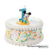 3 Round ~ Disney Baby Mickey 1st Candle Birthday ~ Edible Image Cake/Cupcake Topper!!!