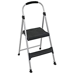 Cosco Signature Two-Step Aluminum Step Stool, Lightweight and easy to carry
