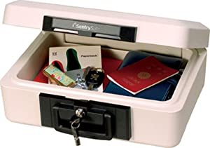 Sentry Safe 2460 A4 Document and Digital Media Fire-Safe Chest with Tubular Key Lock