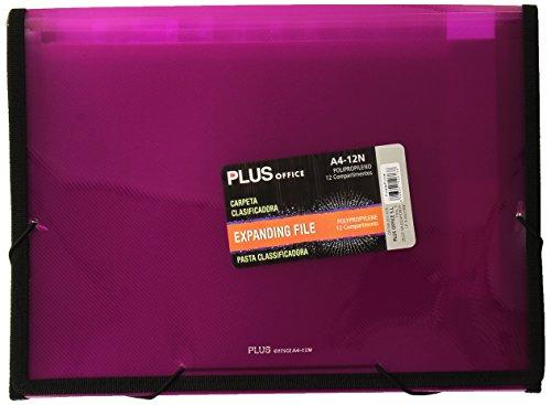 plus-office-a4-12n-carpeta-clasificadora-translucida-12-separadores-a4-color-fucsia