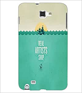 PrintDhaba Ship D-5638 Back Case Cover for SAMSUNG GALAXY NOTE 1 (Multi-Coloured)