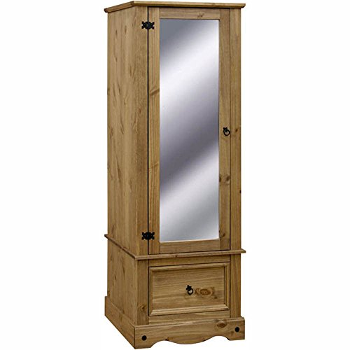 corona-solid-pine-armoire-with-mirrored-door