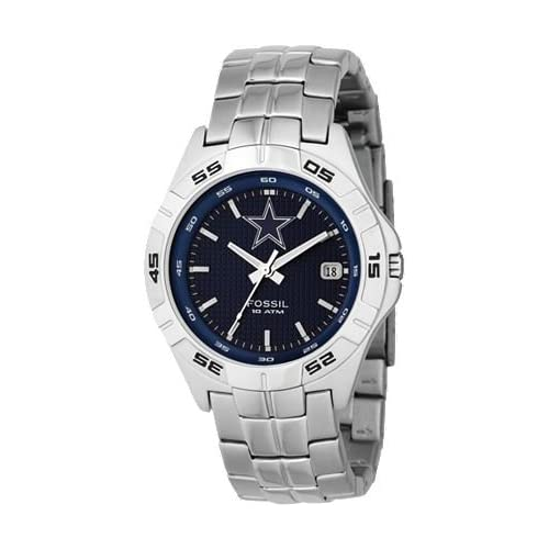 Amazon.com: Fossil NFL Collection Dallas Cowboys Blue Dial Men's watch