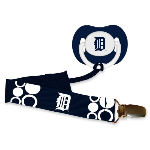 Mlb Detroit Tigers Baby Fanatic Pacifier With Clip front-973714