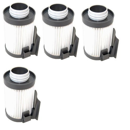 Hqrp Washable Dust Cup Filter 4-Pack For Eureka Optima 431 431A 431Bx 431F 431Dx 433 433A 437 437Az, Pet Lover Oh! 439 439Az Vac Vacuum Cleaner + Hqrp Coaster