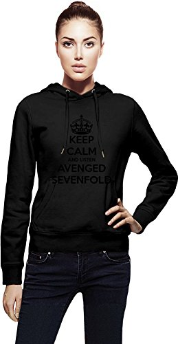 Keep Calm And Listen Avenged Sevenfold Cappuccio da donna Women Jacket with Hoodie Stylish Fashion Fit Custom Apparel By Genuine Fan Merchandise X-Large