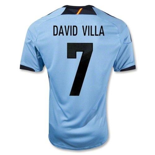 Adidas DAVID VILLA #7 Spain Away Jersey EURO 2012 (L)