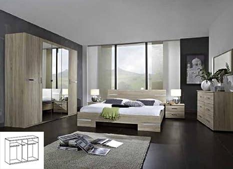 Komplett Schlafzimmer 759 4-teilig eiche sägerau