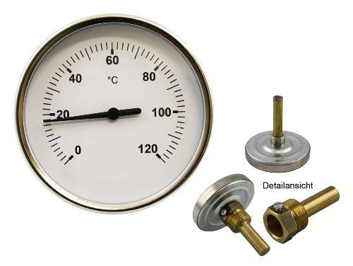 120 °C Grad Thermometer für Heizung mit Messing