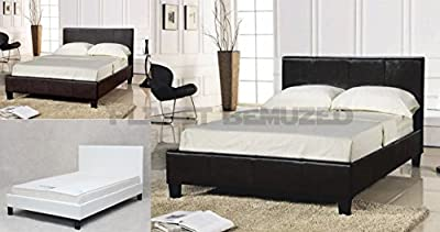 Modern Faux Leather Upholstered Bed Frame By CosySleep®