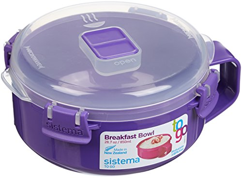 Sistema To Go Collection Microwave Breakfast Bowl, 28.7 Ounce/ 3.6 Cup, Assorted Colors (Microwave To Go Bowl compare prices)
