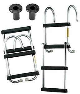 4 Step Folding Pontoon Boat Ladder