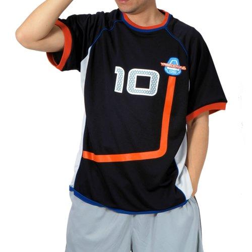 (マンチェス)manches 大きいサイズ やべっちFC オフィシャルレプリカファンクション10番半袖Tシャツ 1011784215 2 ブラック 4L