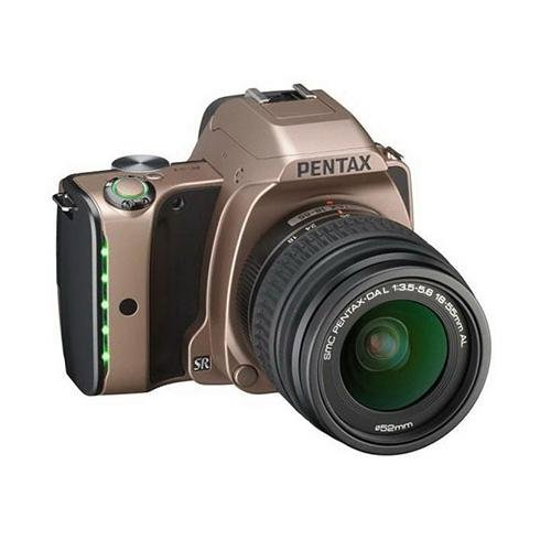 Pentax K-S1 Digital Slr Camera With Da L 18-55Mm Lens, 20Mp, Led Indicator Grip, Prime M Ii Processor, 5.4 Frames Continuous Shooting, Full 1080P Hd Video, Dusk Gold