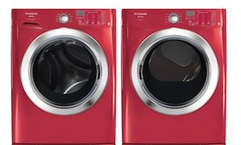 frigidaire affinity red 39 cu ft front load washer u0026 70 cu ft
