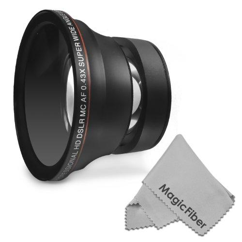 52Mm 0.43X Altura Photo Professional Hd Wide Angle Lens (W/ Macro Portion) For Nikon D5300 D5200 D5100 D3300 D3200 D3100 D3000 Dslr Cameras + Magicfiber Microfiber Lens Cleaning Cloth