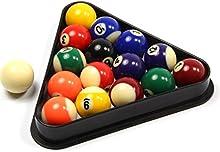Juego de bolas de billar y triángulo para niños, diseño de puntos y rayas, 38 mm