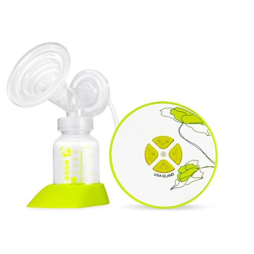 Gland Single Electric Breast Pump Breastfeeding Pump for Nursing Moms, Portable Hospital Grade BPA Free (Green)
