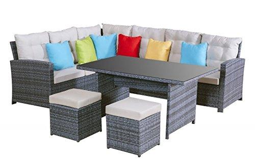 Garten-Lounge-Set-La-Palma-in-grau-Sitzecke-aus-Polyrattan-Sitzgruppe-Essgruppe