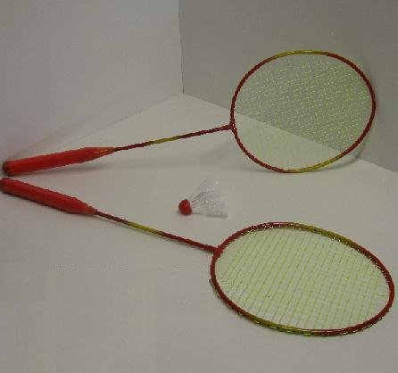 Federball Set, Badminton Set, 2 Schläger, 1 Ball, Starter-SET (LHS)