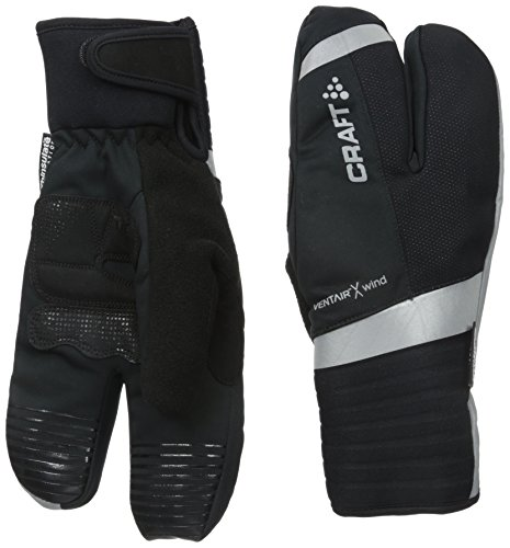 Craft Shield Split Finger Warm/Wind/Waterproof Glove, Black, Medium (Split Mittens compare prices)