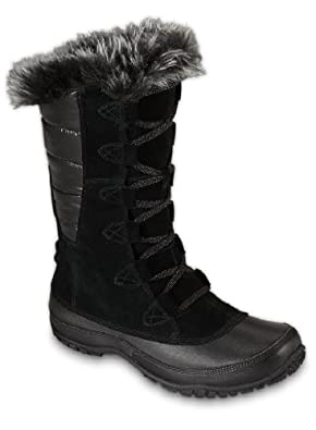The North Face Nuptse Purna Boot - Women's Shiny TNF Black/TNF Black, 6.5