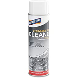 Genuine Joe GJO02114 Stainless Steel Cleaner and Polish, 15oz