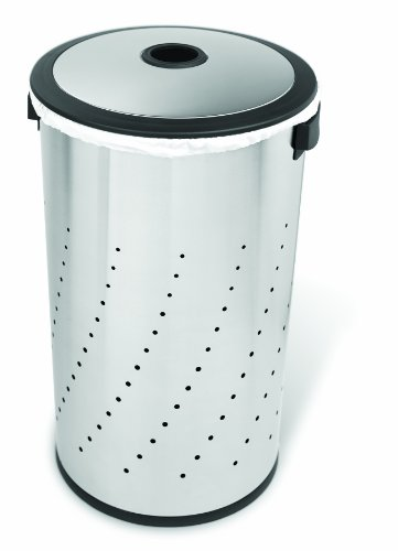 simplehuman Laundry Hamper with Lid, Brushed Stainless Steel