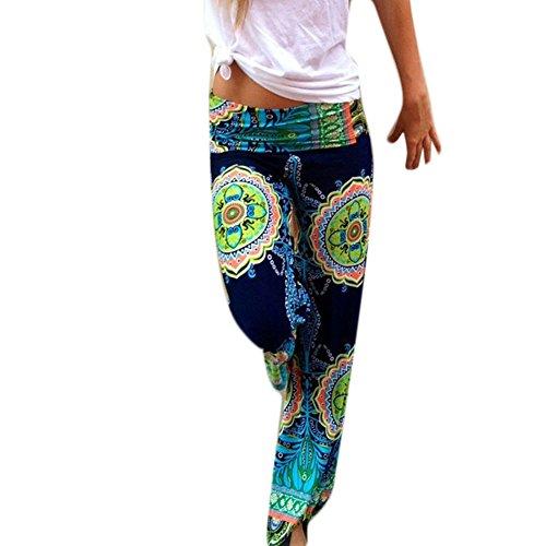 Fancyqube(TM) Women Cotton Yoga Sports Bohemian Loose Leg Harem Pants