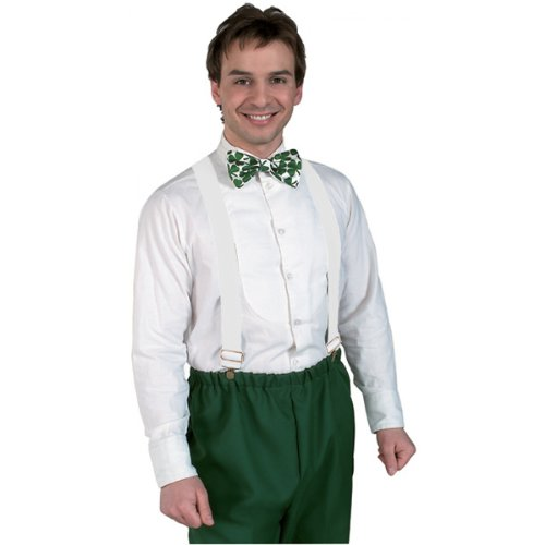 Rubie's Costume Co Clown Suspenders-White Costume