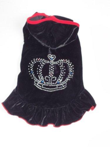 Royal Animals Dog Dress, Black, Small