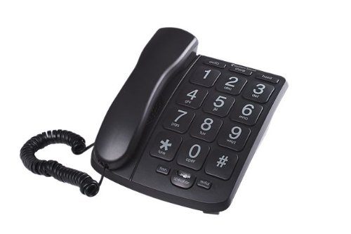 Emerson EM300BK 1-Handset Corded Landline Telephone with Speakerphone (Black)